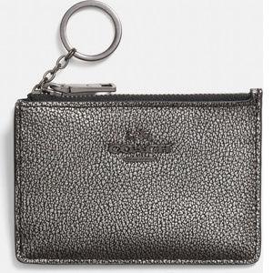 COACH Black Mini Skinny In Metallic Caviar Leather